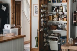 A neatly organized pantry as a symbol of pack your pantry for a move