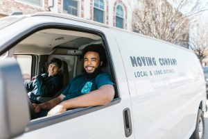rewarded Erlanger movers in a truck
