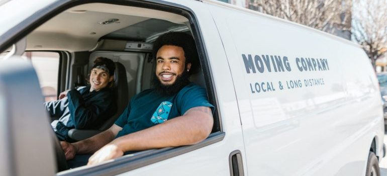 reliable movers in a van