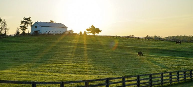 a house on the hill with a pasture below it as one of many benefits of living in Covington, KY